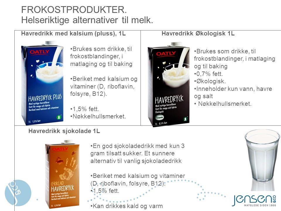 FROKOSTPRODUKTER. Helseriktige alternativer til melk.