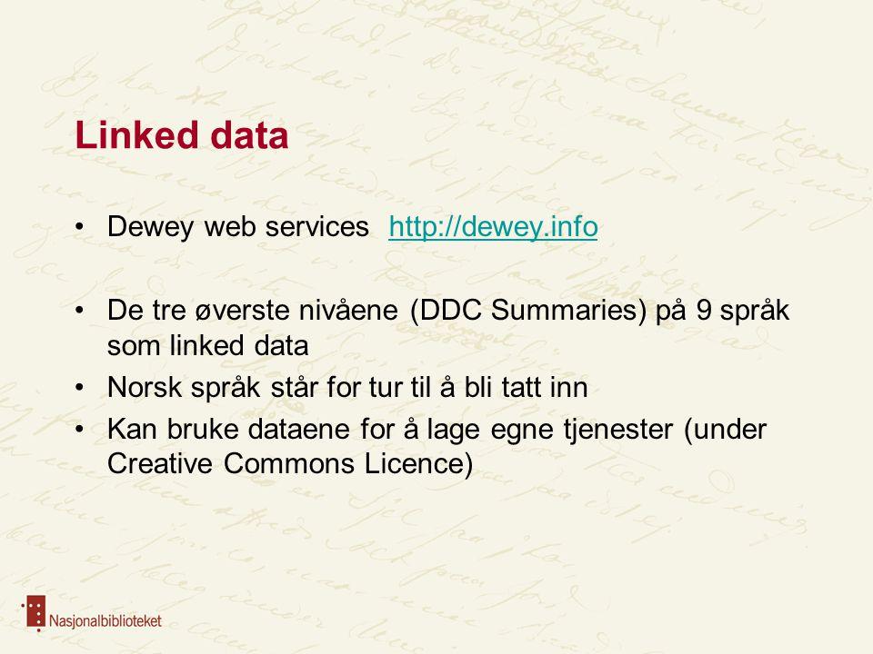 Linked data Dewey web services http://dewey.info
