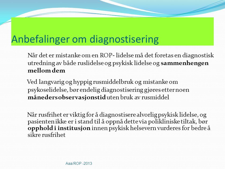 Anbefalinger om diagnostisering