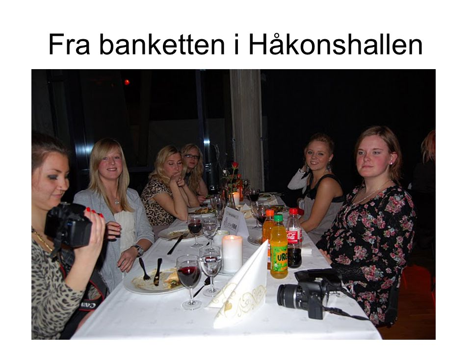 Fra banketten i Håkonshallen
