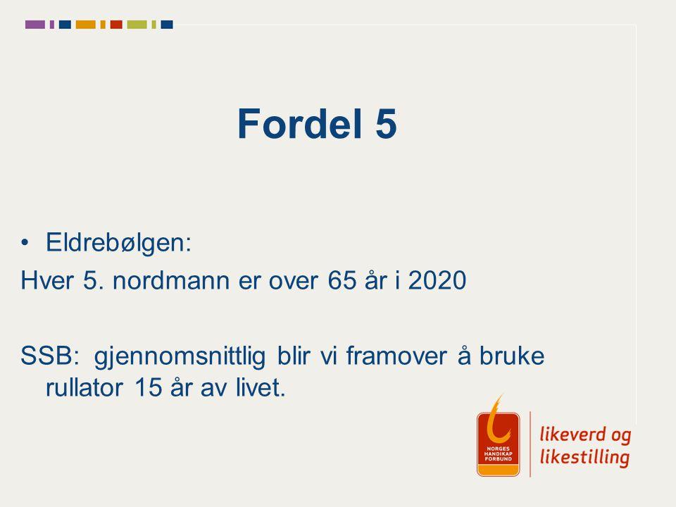 Fordel 5 Eldrebølgen: Hver 5. nordmann er over 65 år i 2020