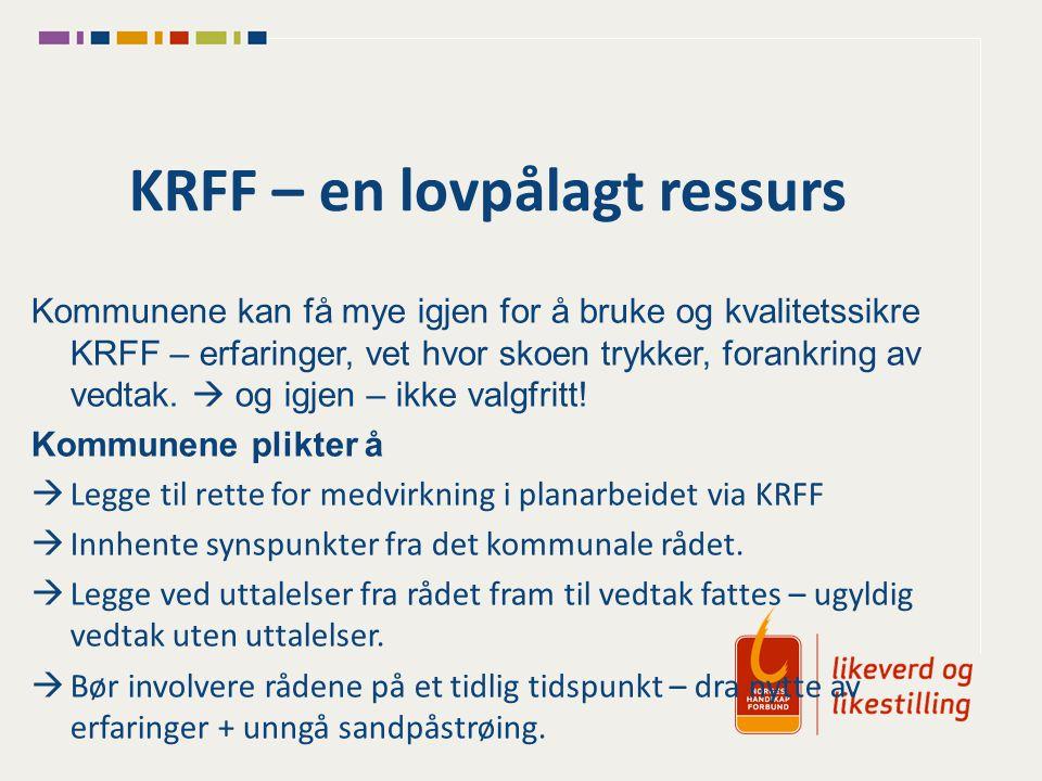 KRFF – en lovpålagt ressurs