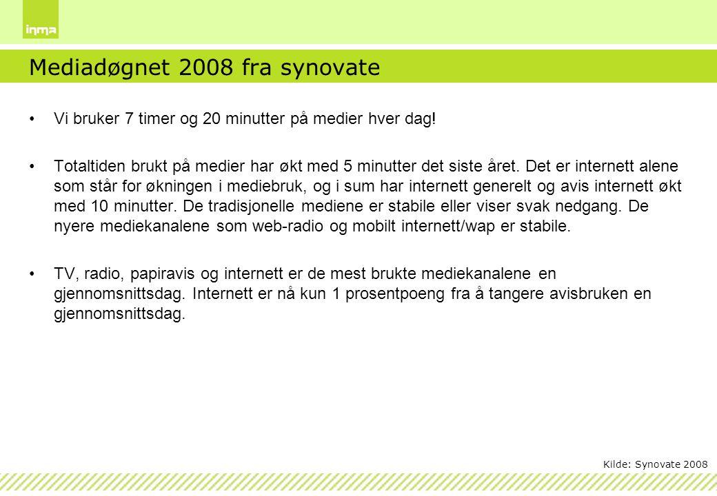 Mediadøgnet 2008 fra synovate