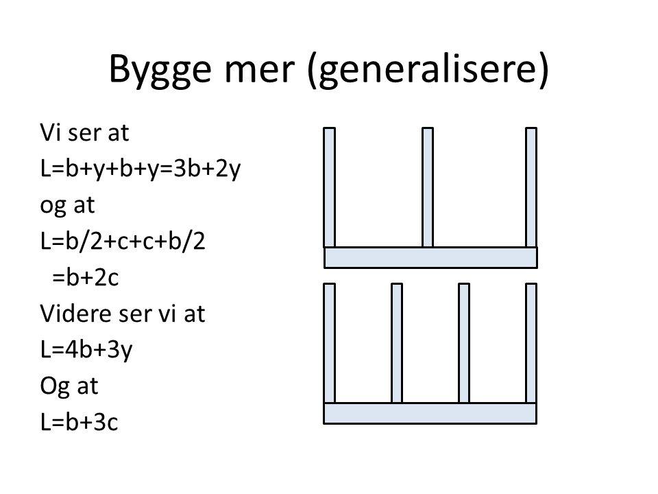 Bygge mer (generalisere)
