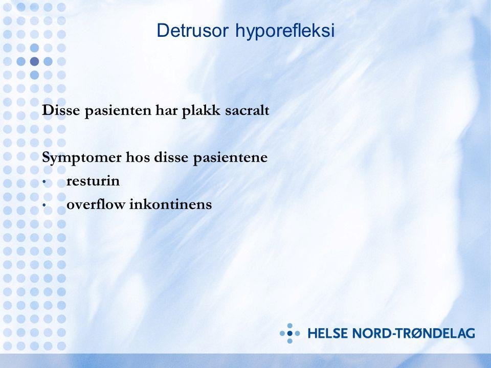 Detrusor hyporefleksi