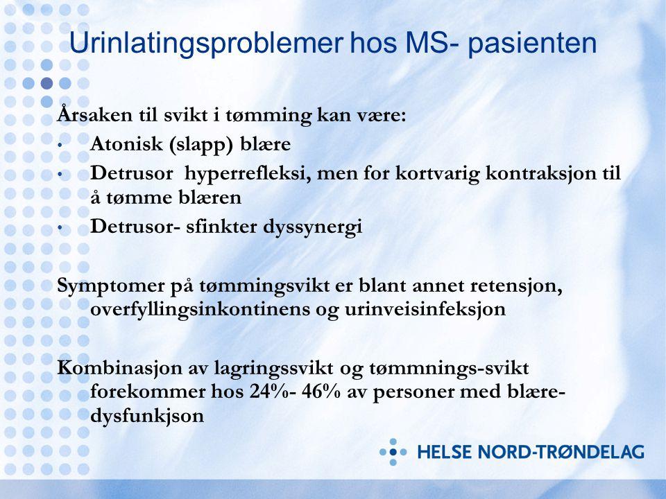 Urinlatingsproblemer hos MS- pasienten