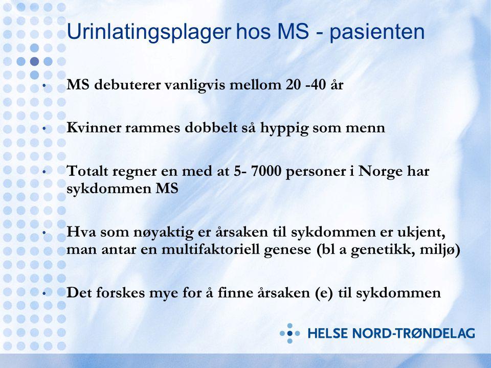 Urinlatingsplager hos MS - pasienten