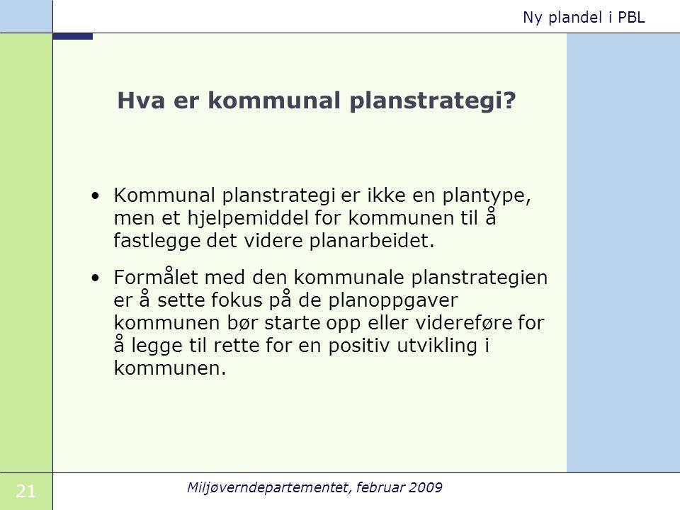 Hva er kommunal planstrategi