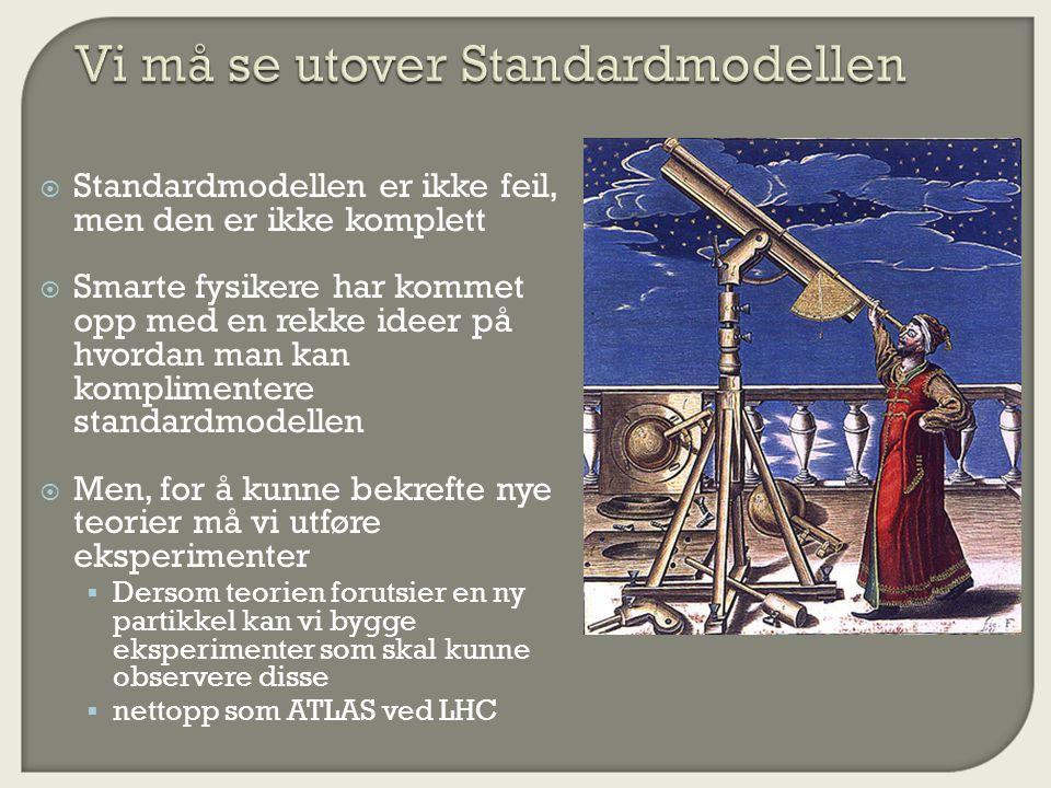 Vi må se utover Standardmodellen