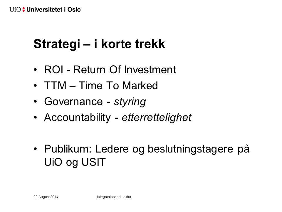 Strategi – i korte trekk