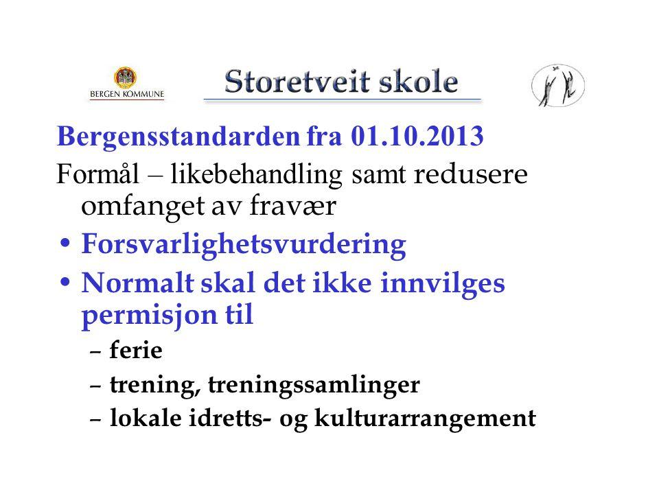Bergensstandarden fra 01.10.2013
