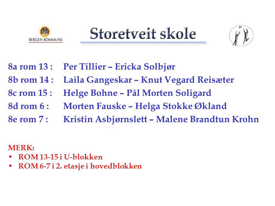 8a rom 13 : Per Tillier – Ericka Solbjør