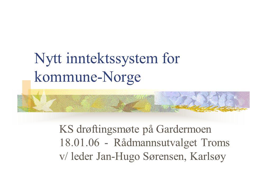 Nytt inntektssystem for kommune-Norge