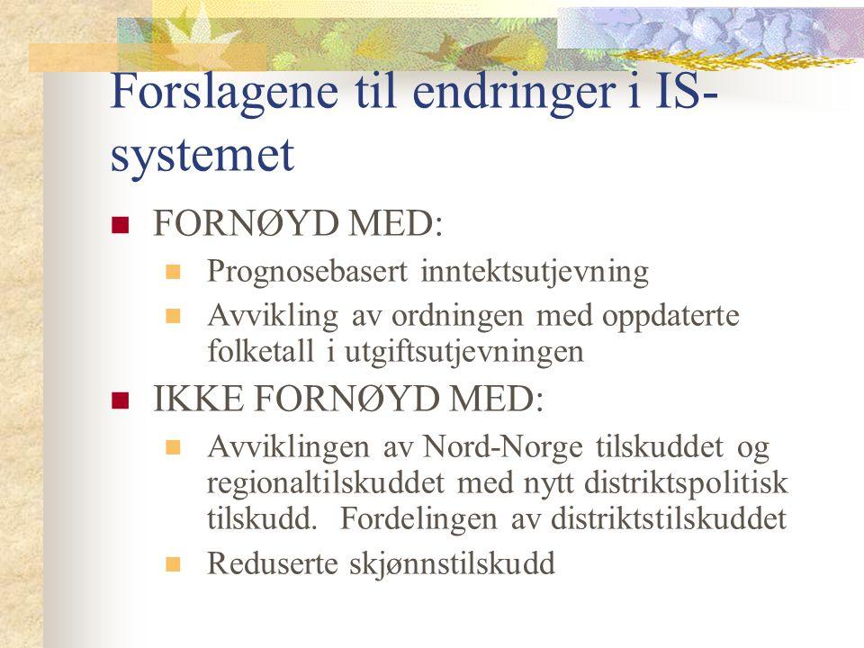 Forslagene til endringer i IS-systemet