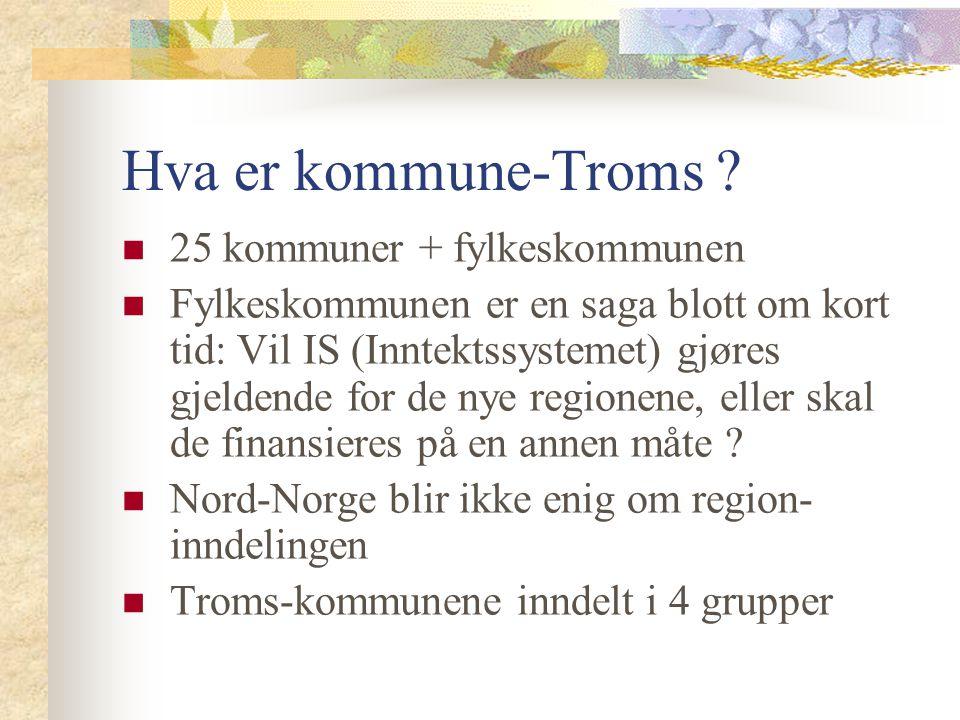 Hva er kommune-Troms 25 kommuner + fylkeskommunen
