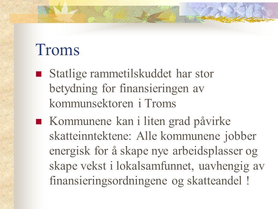 Troms Statlige rammetilskuddet har stor betydning for finansieringen av kommunsektoren i Troms.