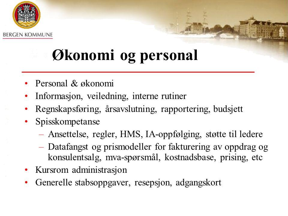 Økonomi og personal Personal & økonomi