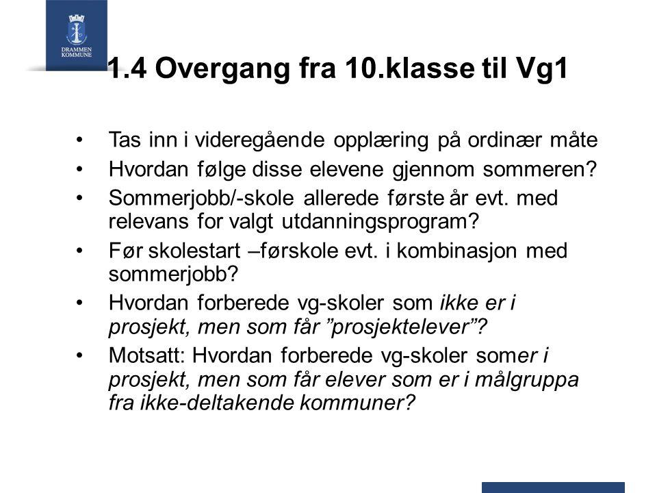 1.4 Overgang fra 10.klasse til Vg1