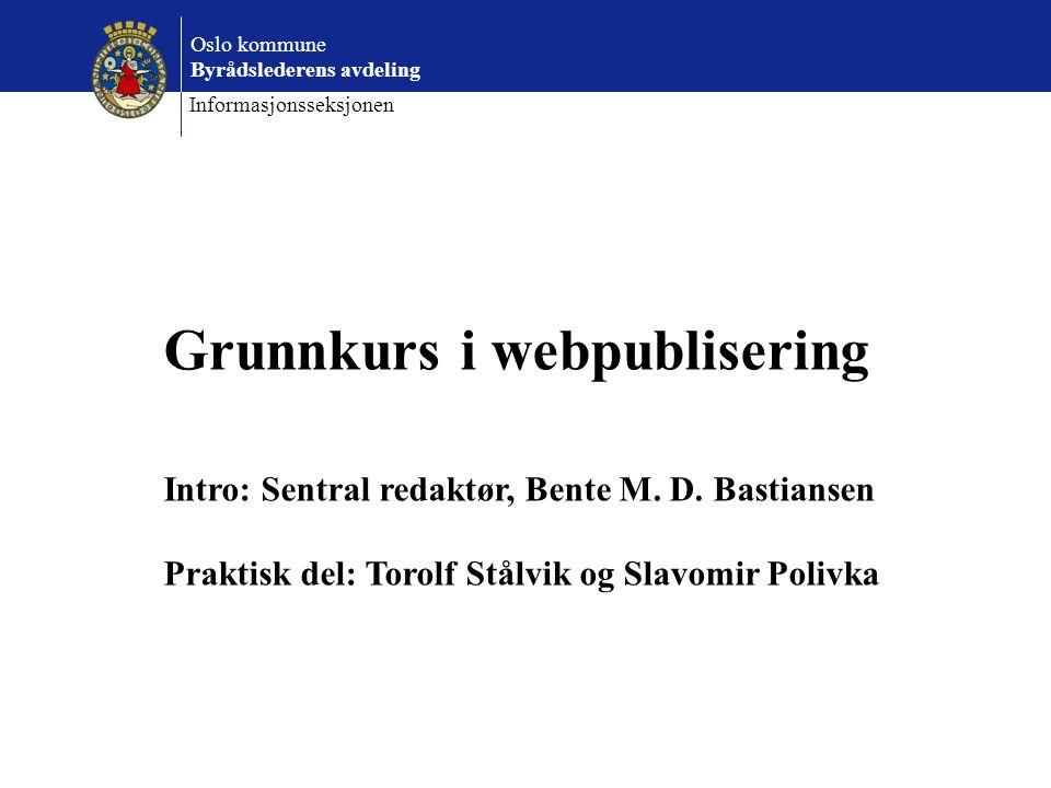 Grunnkurs i webpublisering