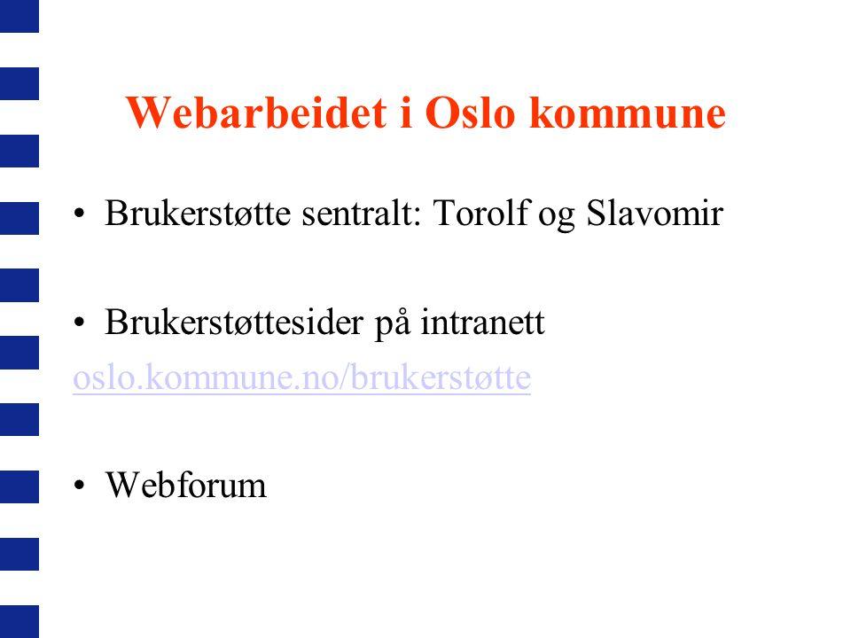 Webarbeidet i Oslo kommune