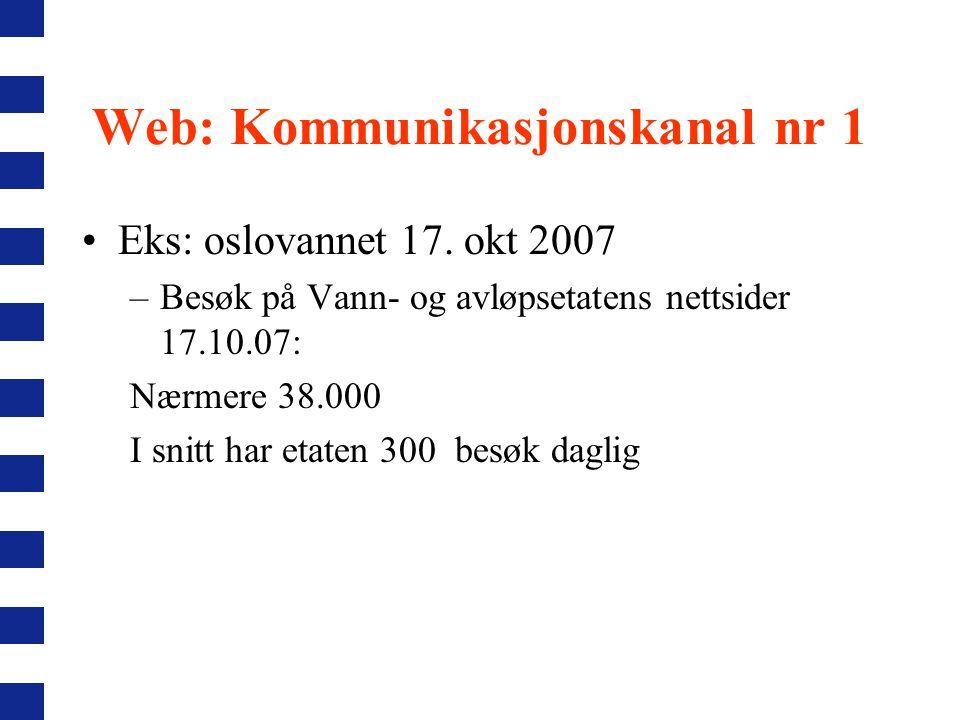 Web: Kommunikasjonskanal nr 1