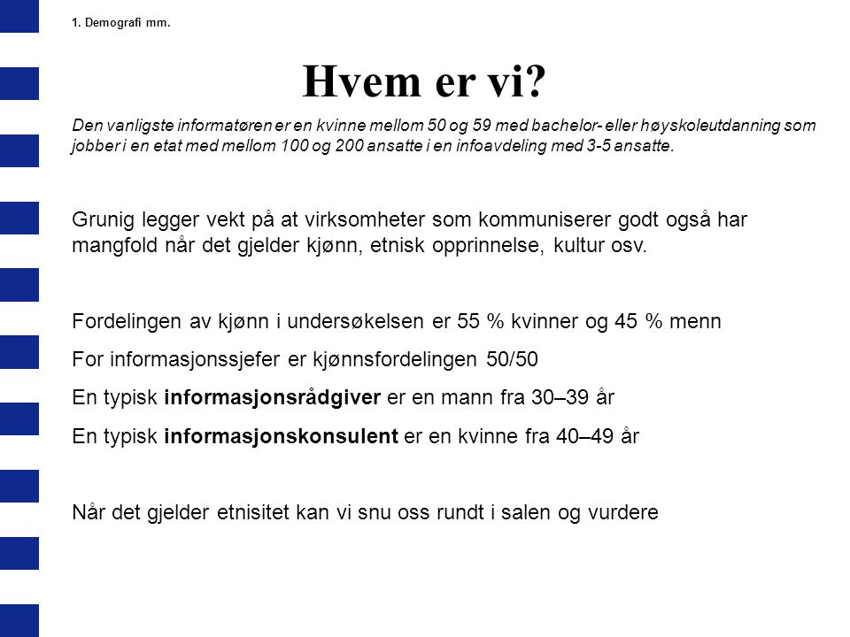 1. Demografi mm. Hvem er vi