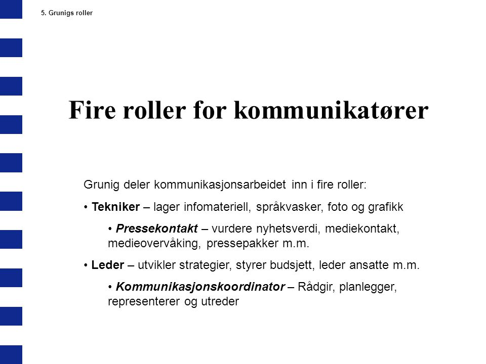 Fire roller for kommunikatører
