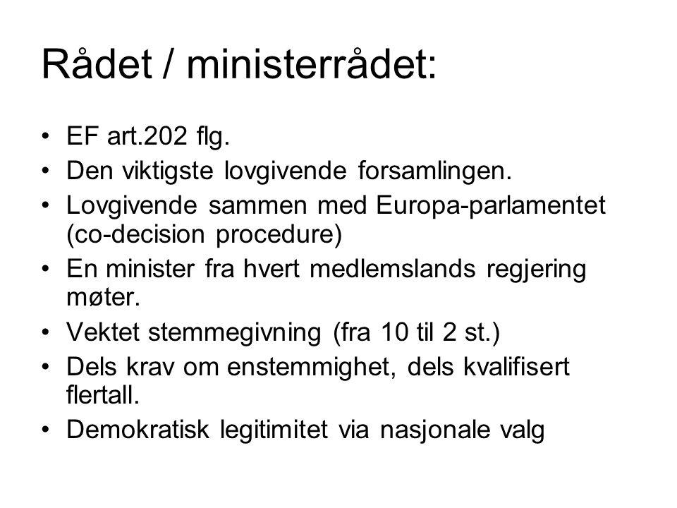 Rådet / ministerrådet: