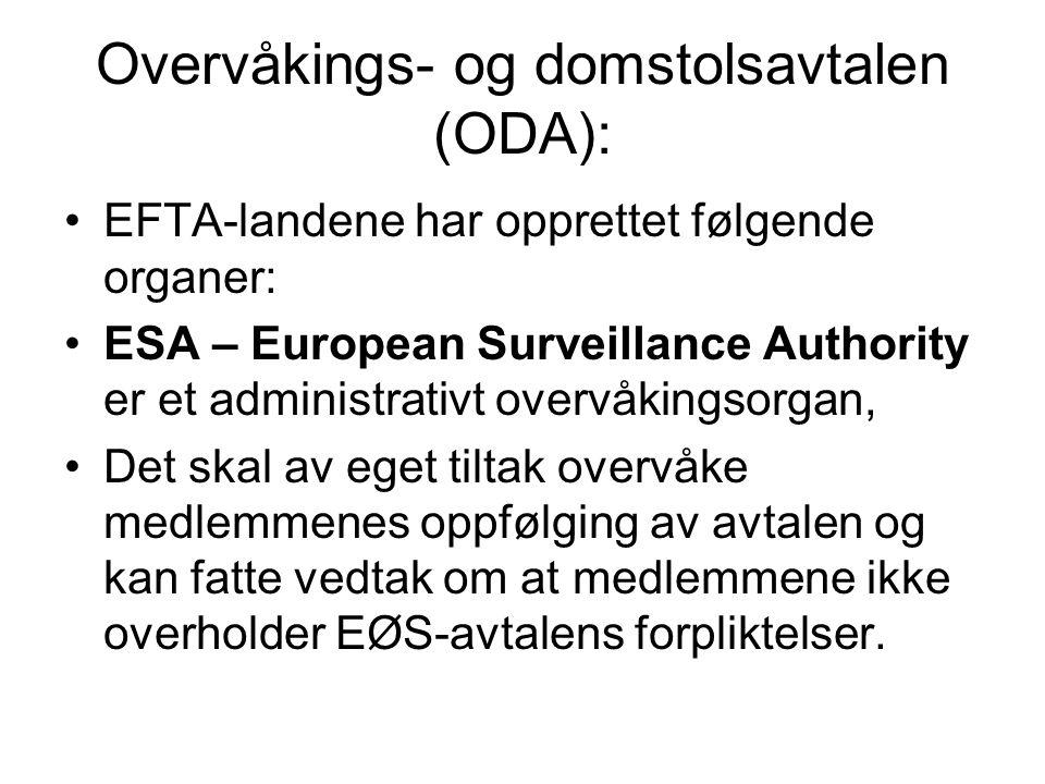 Overvåkings- og domstolsavtalen (ODA):