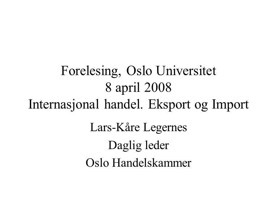 Lars-Kåre Legernes Daglig leder Oslo Handelskammer