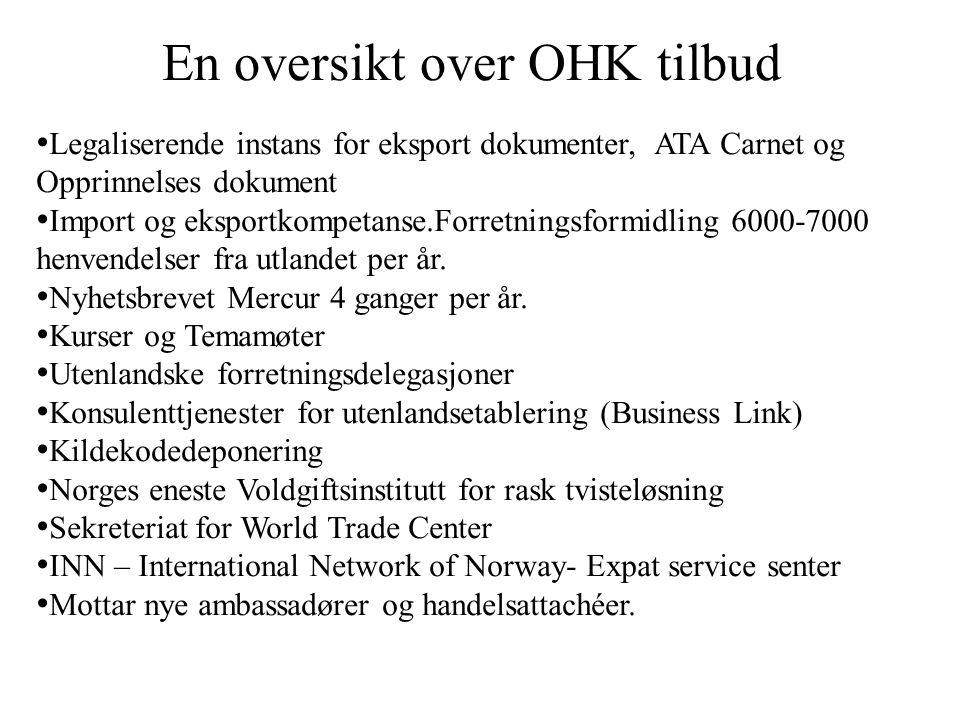En oversikt over OHK tilbud