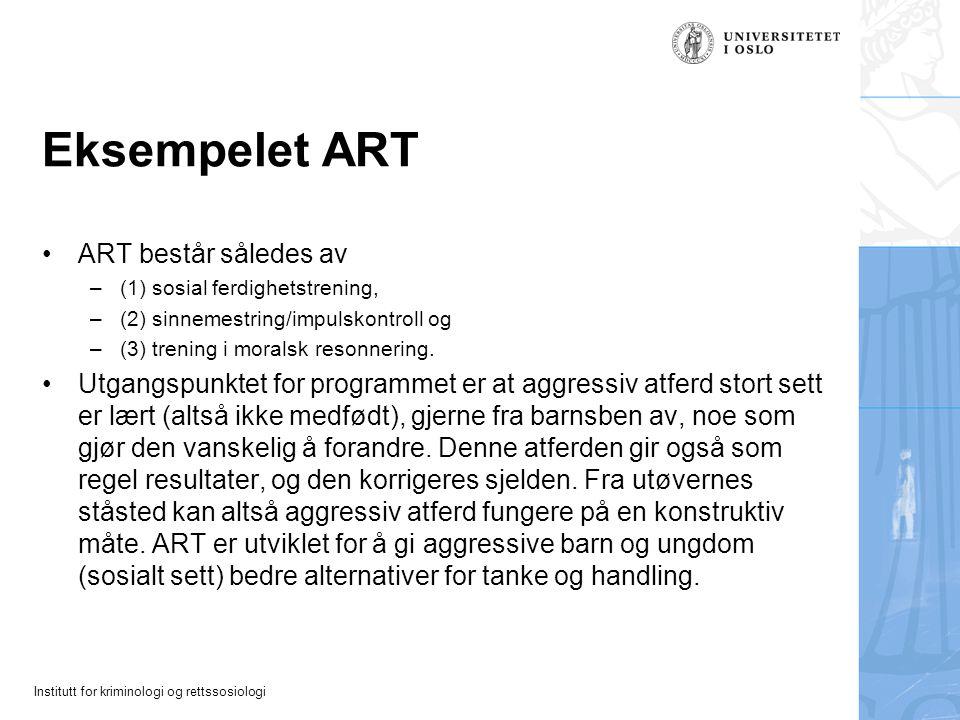 Eksempelet ART ART består således av