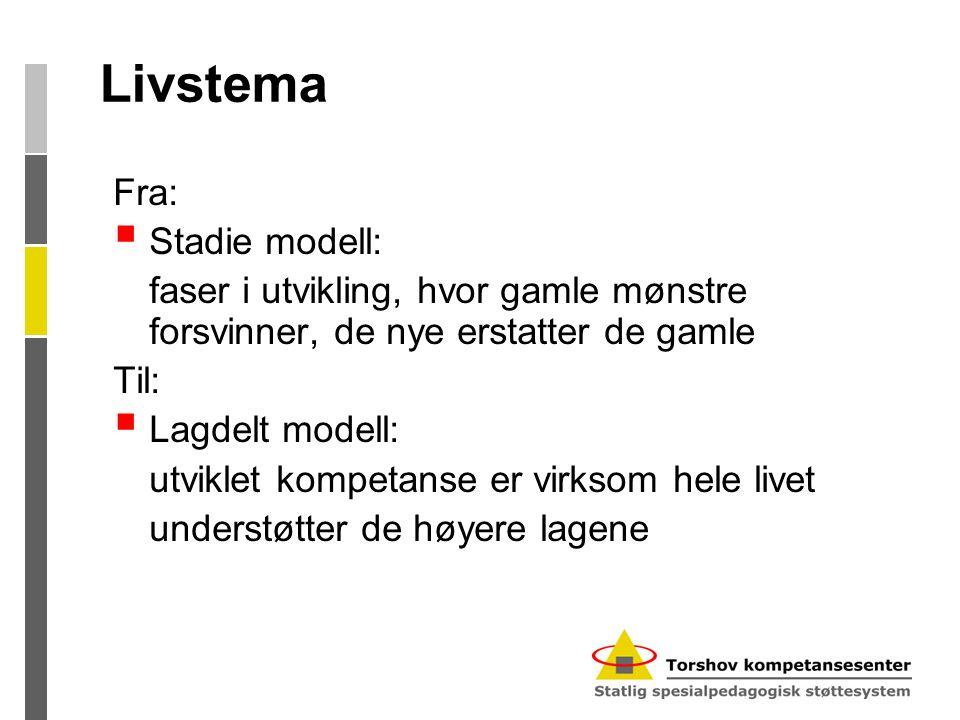 Livstema Fra: Stadie modell: