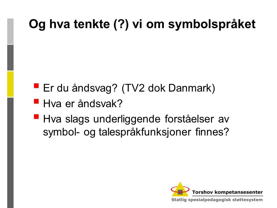 Og hva tenkte ( ) vi om symbolspråket