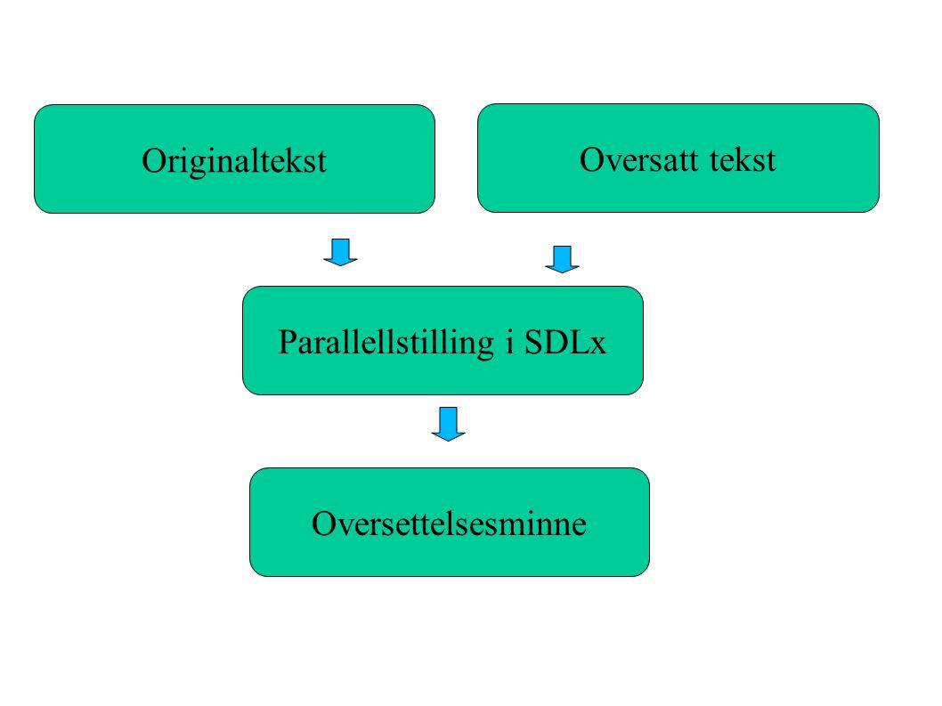 Parallellstilling i SDLx