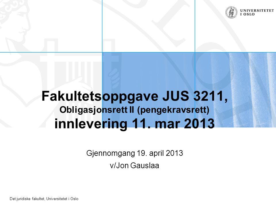 Gjennomgang 19. april 2013 v/Jon Gauslaa