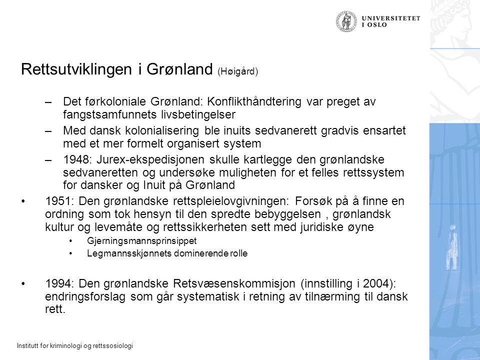 Rettsutviklingen i Grønland (Høigård)