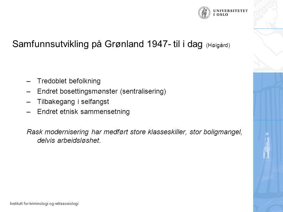 Samfunnsutvikling på Grønland 1947- til i dag (Høigård)