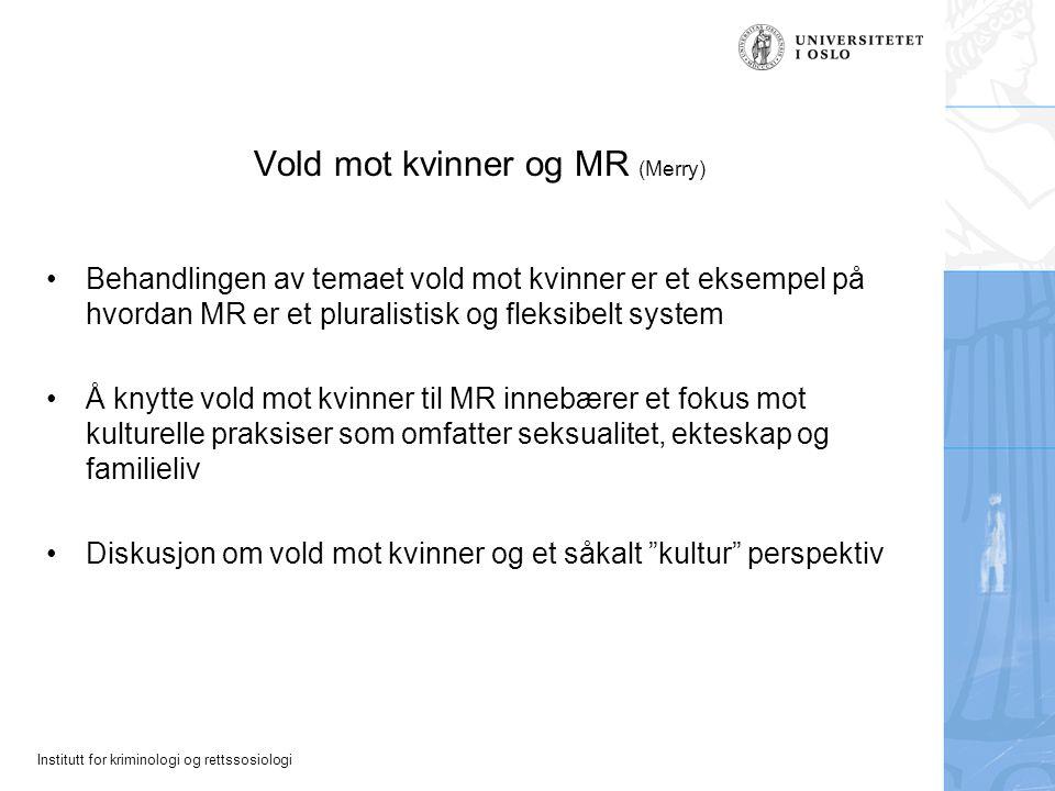 Vold mot kvinner og MR (Merry)