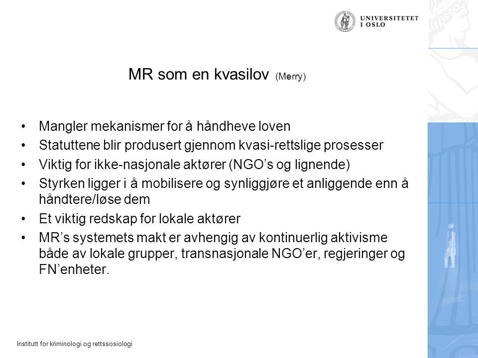 MR som en kvasilov (Merry)
