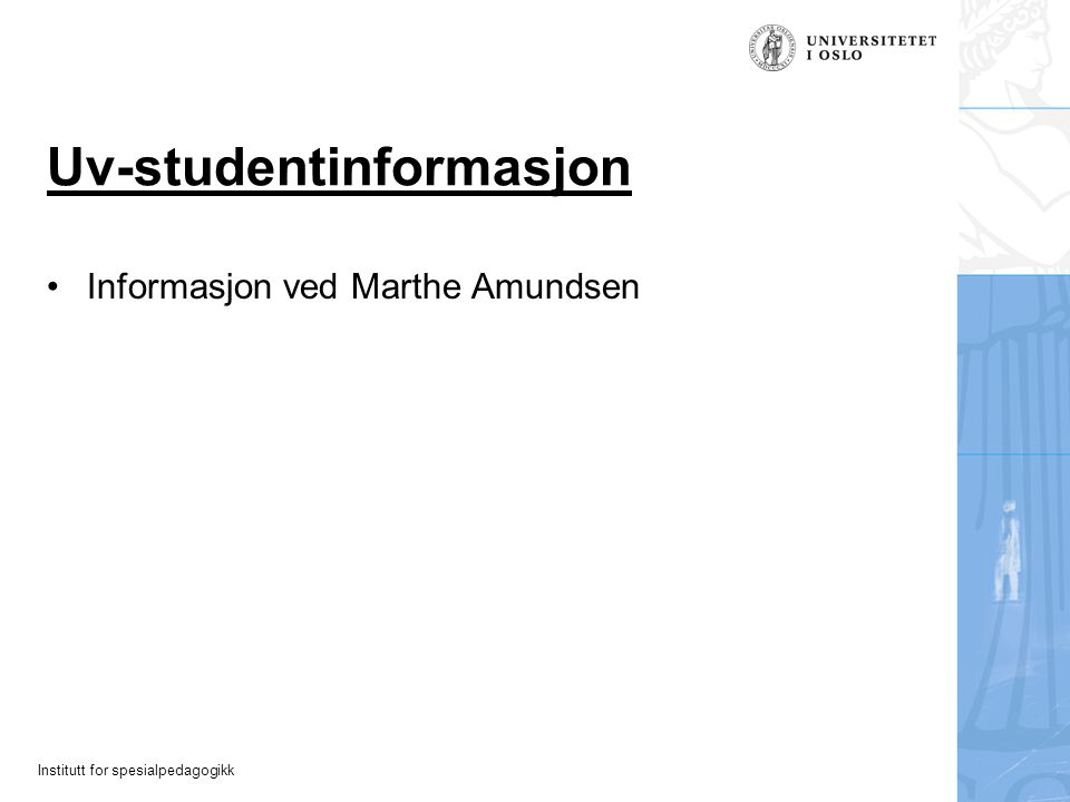 Uv-studentinformasjon