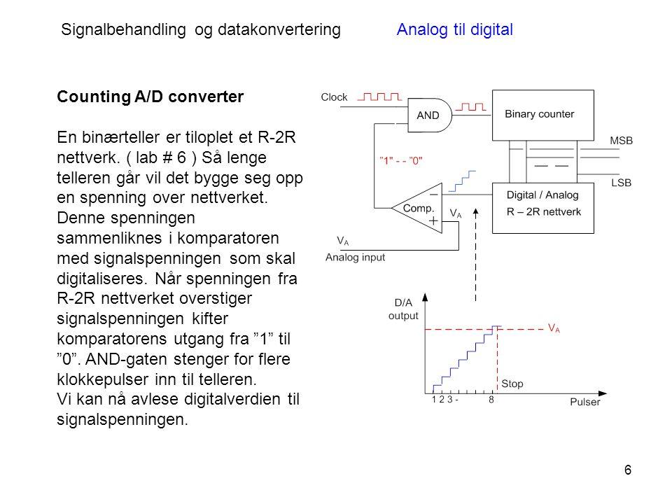 Signalbehandling og datakonvertering Analog til digital