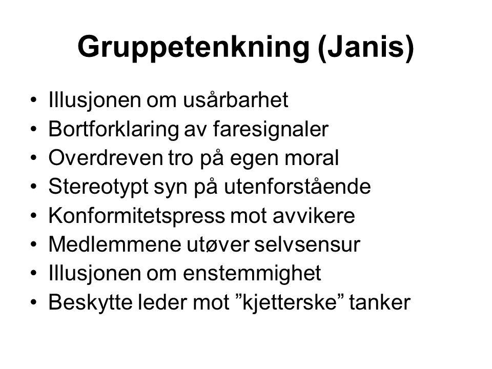 Gruppetenkning (Janis)