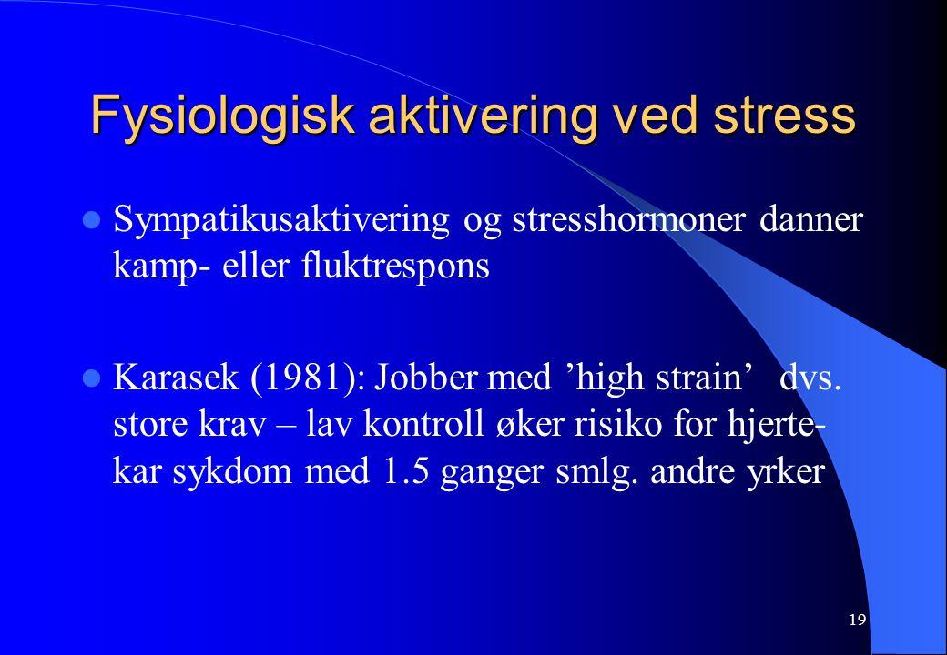 Fysiologisk aktivering ved stress