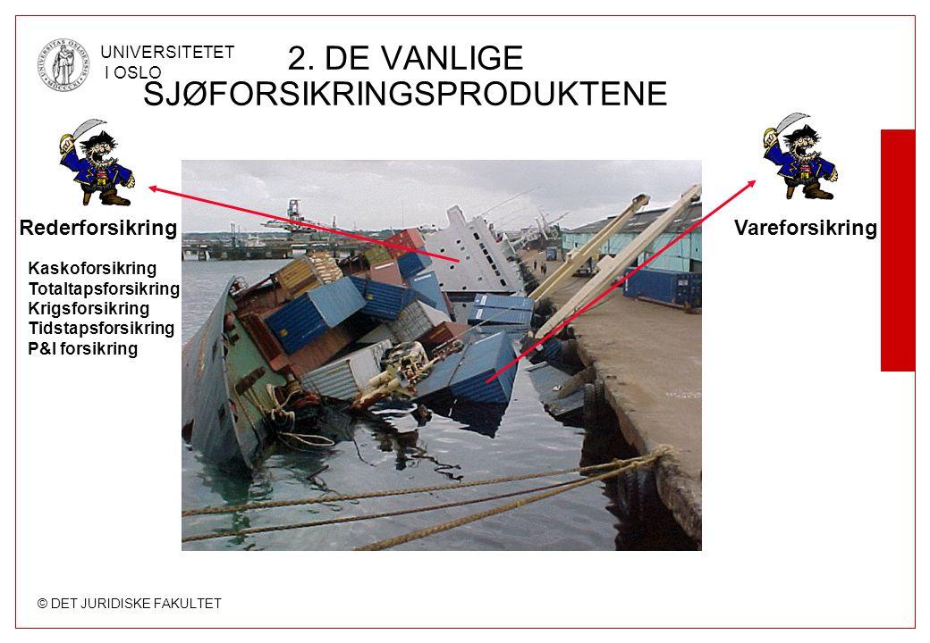 2. DE VANLIGE SJØFORSIKRINGSPRODUKTENE