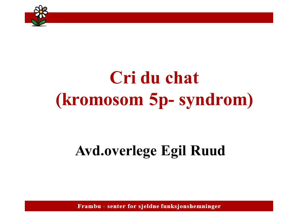 Cri du chat (kromosom 5p- syndrom)