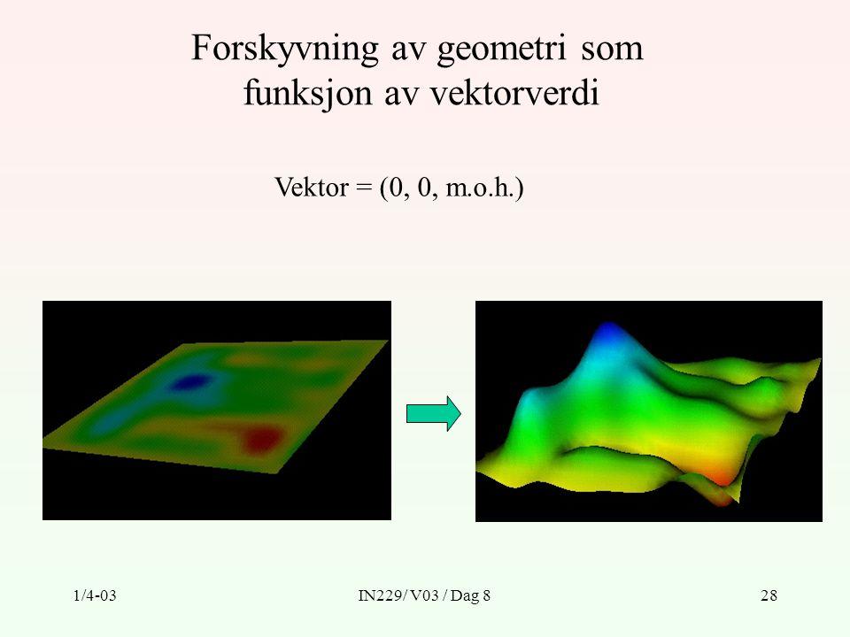 Forskyvning av geometri som funksjon av vektorverdi