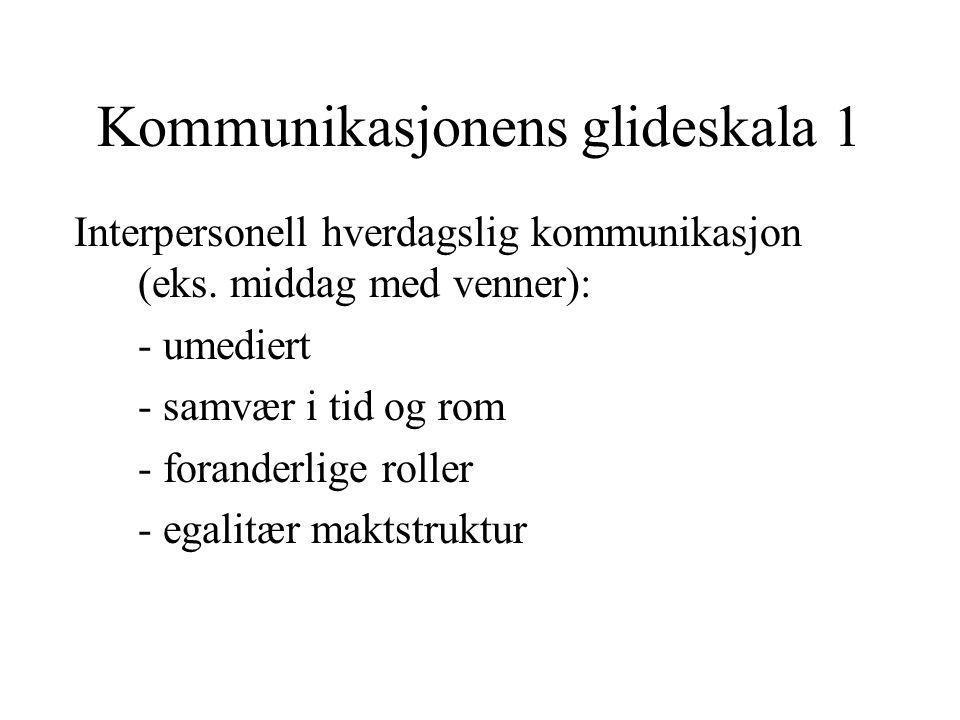 Kommunikasjonens glideskala 1
