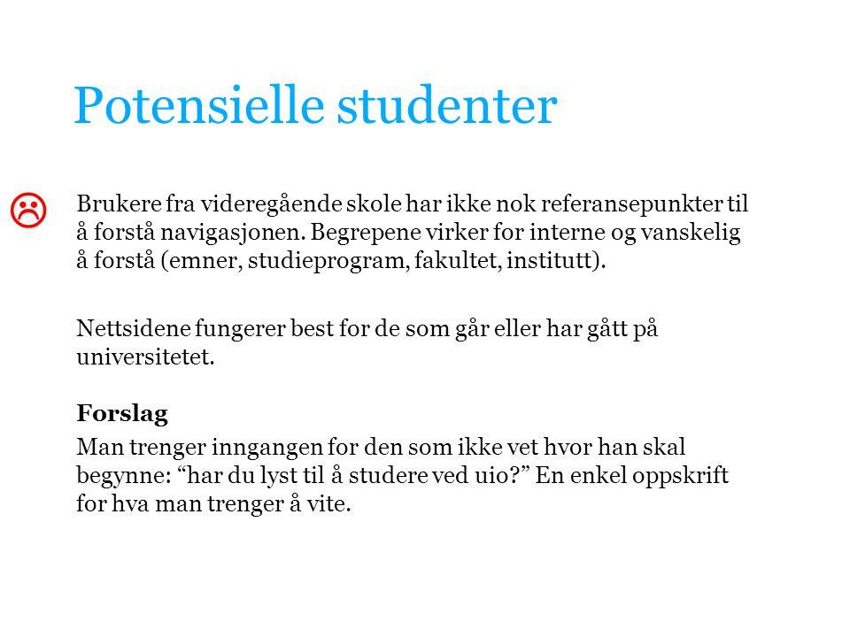 Potensielle studenter