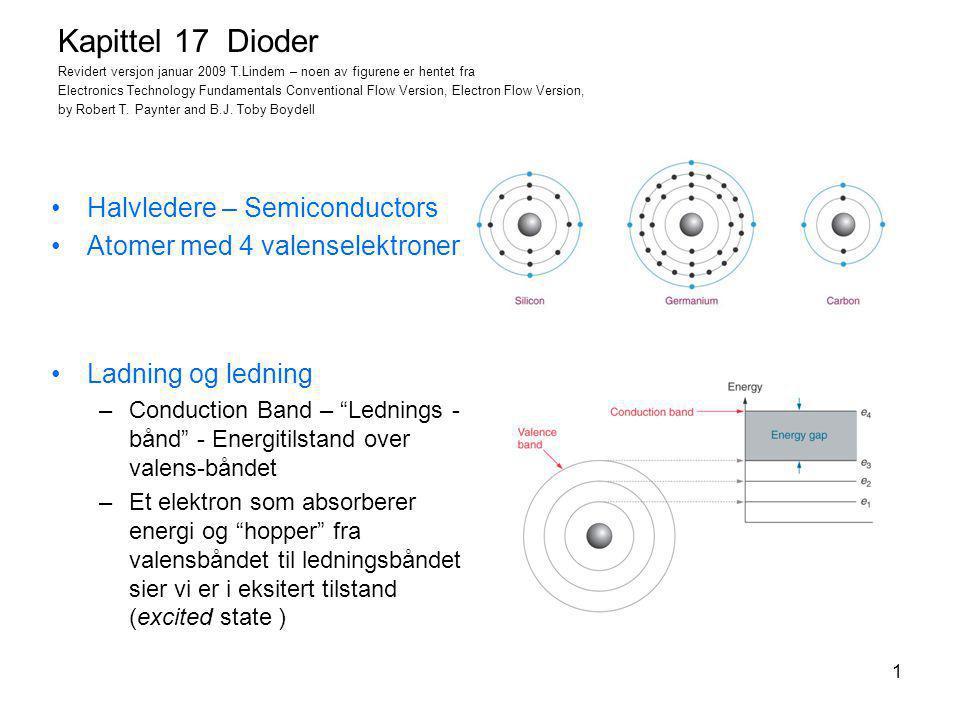 Kapittel 17 Dioder Halvledere – Semiconductors